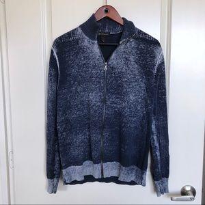 Blue zip up sweater